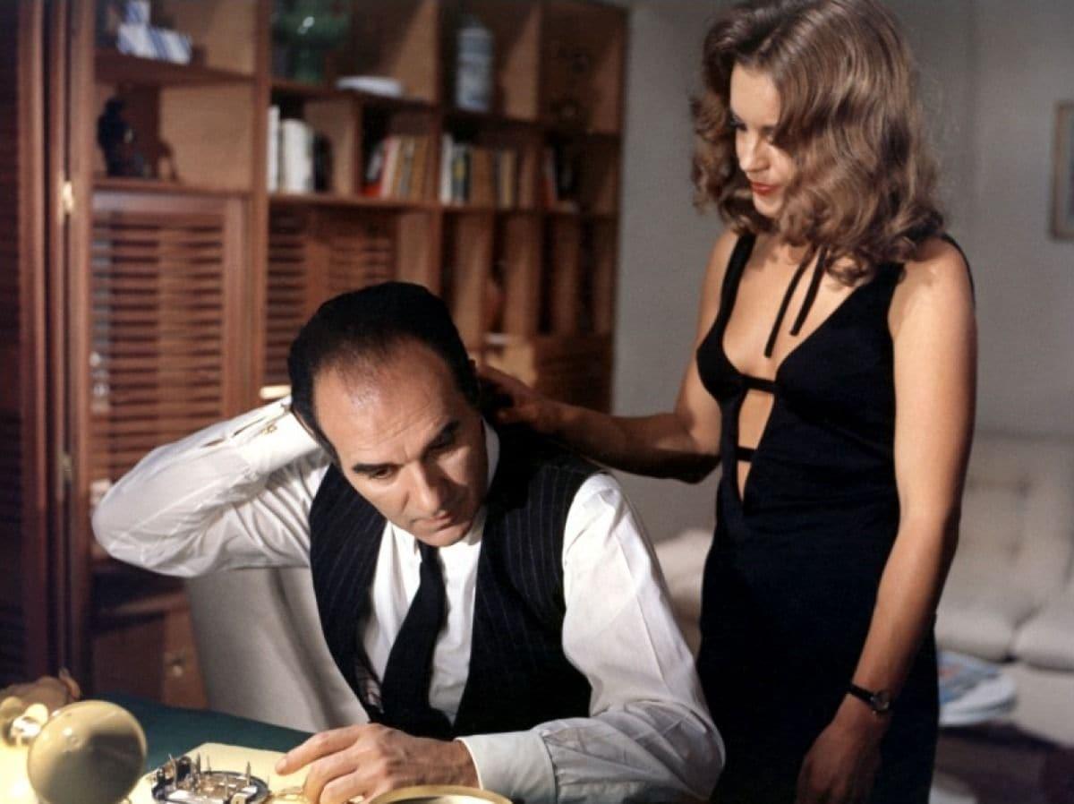 Michel Piccoli and Romy Schneider in Max Et Les Ferrailleurs