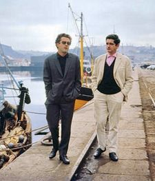 Michel Legrand with Jacques Demy taking a stroll