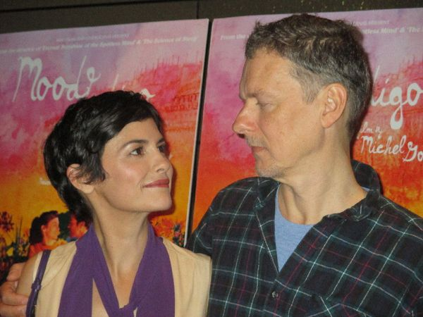 Mood Indigo's Audrey Tautou with Michel Gondry at the Tribeca Grand Hotel premiere:
