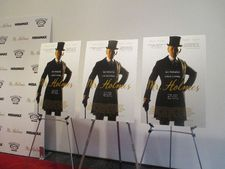 Mr. Holmes US posters on the red carpet at MoMA