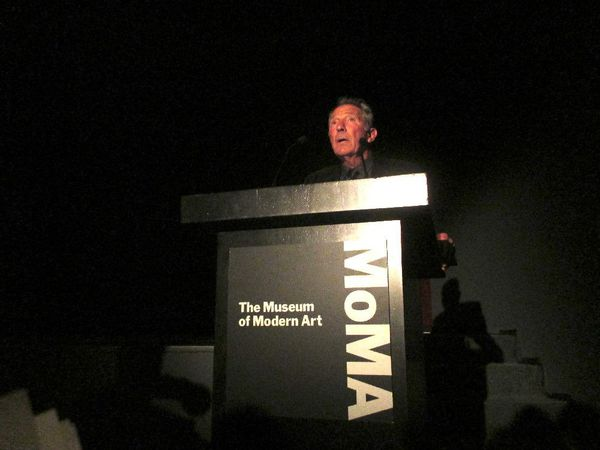 "My Old Lady director Israel Horovitz at MoMA premiere on Samuel Beckett's Cascando: ""I once recited a poem of mine to Beckett."""