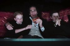 "Cavemen - Nick Cave with Arthur and Earl enjoying a 20,000 Days on Earth moment: ""As a director you're never really sure what your film is going to be."""