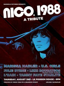 Magnolia Pictures presents Nico, 1988 A Tribute on August 2, 2018 at (Le) Poisson Rouge in New York