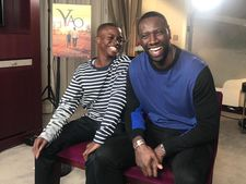 Omar Sy and his young co-star Lionel Basse on the interview circuit in Paris