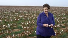 Organic cotton farmer LaRhea Pepper in Lubock, Texas speaks on GMOs