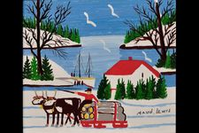 Oxen With Logs - Maud Lewis: