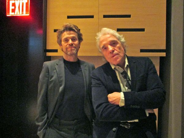 "No Exit for Pasolini star Willem Dafoe with director Abel Ferrara: ""You know concentric circles."""