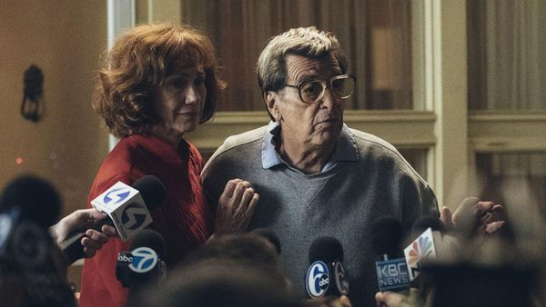 Part of the Barry Levinson tribute in Karlovy Vary: Kathy Baker and Al Pacino portray Sue and Joe Paterno in a scene from Paterno, about the late disgraced football coach