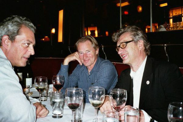 "Until The End Of The World director Wim Wenders with Paul Auster and Sam Shepard at Balthazar in 2005: ""Actually, he [Sam] is the guy I offered the film first."""