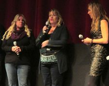 "BizParentz founders Paula Dorn and Anne Henry with Amy Berg: ""We are so happy with how this film was done."""
