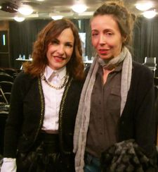 Paula Ortiz with Anne-Katrin Titze at Instituto Cervantes New York.