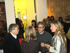 D.A. Pennebaker and Chris Hegedus speak with Ross Kauffman and Katy Chevigny at the E-Team reception