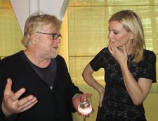 Philip Seymour Hoffman celebrating Cate Blanchett at Le Cirque in 2013