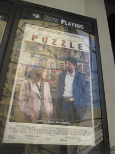 Puzzle poster at the Angelika Film Center in New York