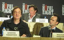 "Quentin Tarantino with Michael Madsen and Walter Goggins: ""To me, a blizzard is like a monster in a monster movie."""