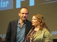 Ralph Fiennes with Joanna Scanlan at the New York Film Festival