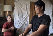 "Randy Sullivan of the Florida Baseball Ranch training Chien-Ming Wang: ""He is often meeting setbacks but the next day he comes back to work."""