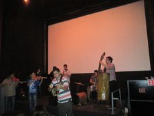 Recycled Orchestra of Cateura performing at Cinema Village in honor of Fernando Maldonado