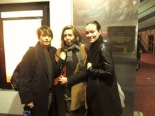 Reed Morano, Anne-Katrin Titze and Olivia Wilde at Village East Cinema