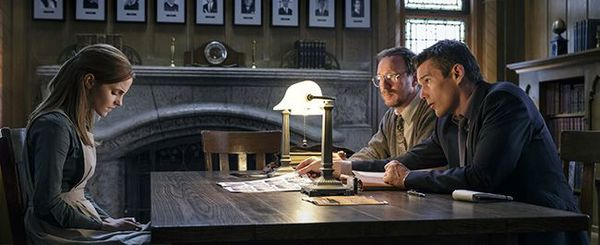 Emma Watson, David Thewlis and Ethan Hawke in Regression