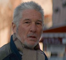 Richard Gere as he appears as a homeless New Yorker in Time Out Of Mind