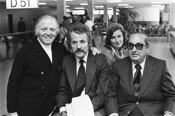 William Goldman (centre) with Richard Attenborough and Joe Levine