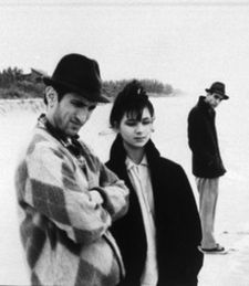 Richard Edson (Konk), Eszter Balint and John Lurie (Lounge Lizzards) in Jim Jarmusch's Stranger Than Paradise