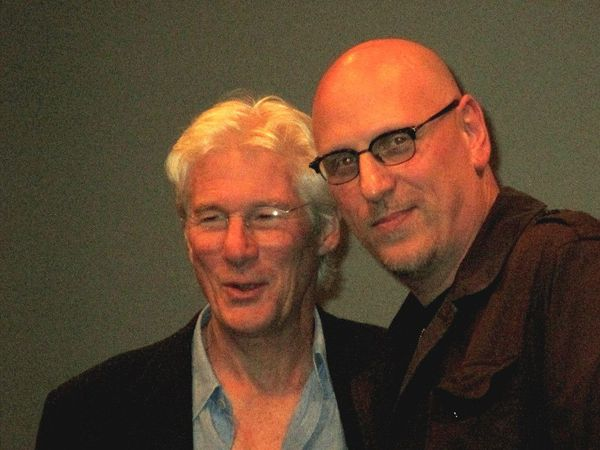 "Richard Gere with Time Out Of Mind director Oren Moverman: ""We've been friends since I'm Not There."""
