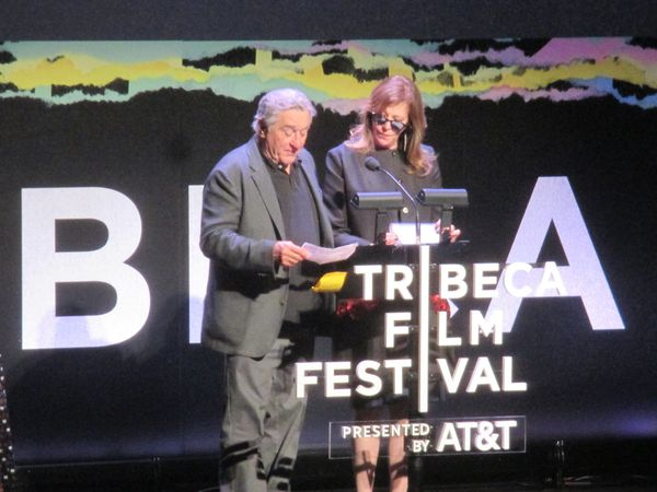 Robert De Niro and Jane Rosenthal announced Diane as the winner of the Best US Narrative Feature of the Tribeca Film Festival