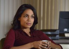 "Rosario Dawson as Detective Nicole Dunlop: ""it's like finding a needle in a haystack."""
