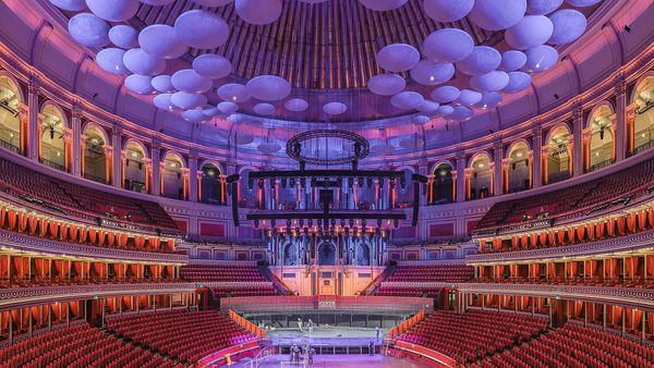 The interior of the Royal Albert Hall, where the BAFTAs are awarded