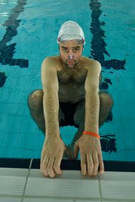 Daniel Mays in Swimming With Men - photo by Vertigo Releasing