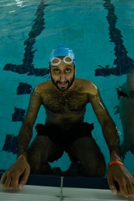Adeel Aktar in Swimming With Men - photo by Vertigo Releasing