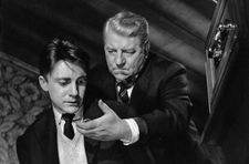 "Jean Gabin with Serge Rousseau in Jean Delannoy's Maigret Et L'Affaire Saint-Fiacre: ""There are some moments where he is boiling with anger..."""