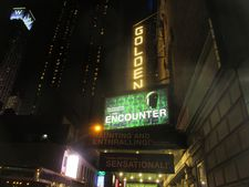 Simon McBurney's Complicite production of The Encounter at the Golden Theatre