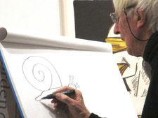 "Snail - Tomi Ungerer: ""And then you have something that looks like four eyes, but it's not four eyes."""