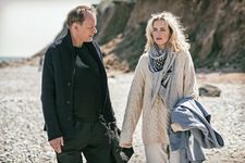 Max Zorn (Stellan Skarsgård) with Rebecca (Nina Hoss) in Return To Montauk