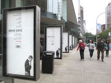 Steve Jobs US posters at Lincoln Center