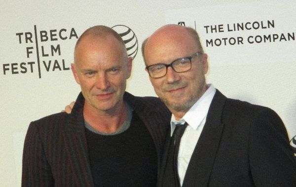 Debating with Paul Haggis on the Third Person at the US premiere during the Tribeca Film Festival, with Sting by his side.