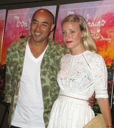 Suno's Max Osterweis with Opening Ceremony's Kate Foley at the Mood Indigo premiere
