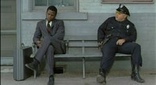 Sydney Poitier as Virgil Tibbs and Rod Steiger as Police Chief Bill Gillespie  - In The Heat Of The Night