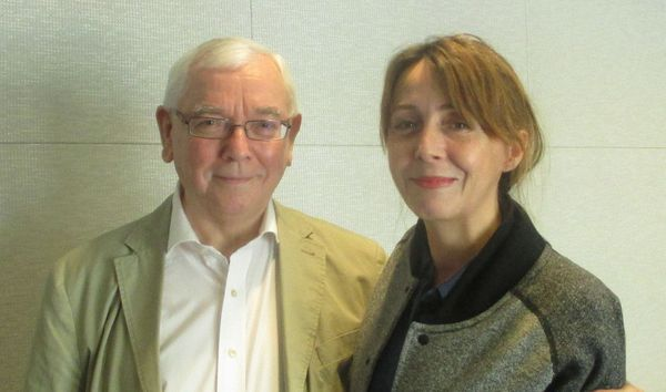 Terence Davies with Anne-Katrin Titze at the W Hotel Union Square in New York