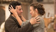 Oscar Isaac and Charlotte Le Bon in The Promise