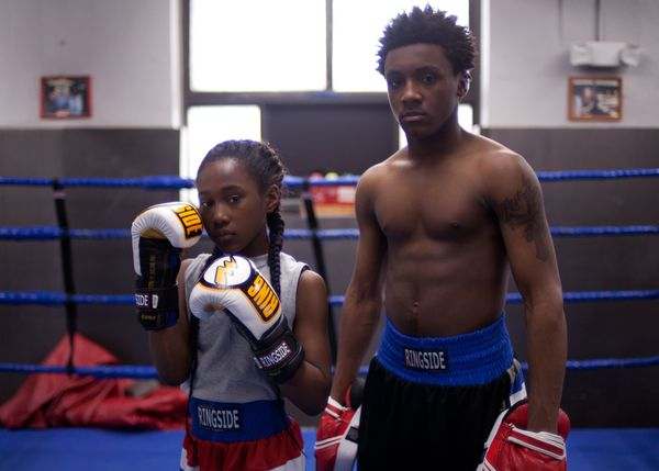 Royalty Hightower and Da'sean Minor as Toni and Jermaine in The Fits. 'Even when she's working with her brother in the boxing gym, we choreographed that sequence and really thought of it as dance.'