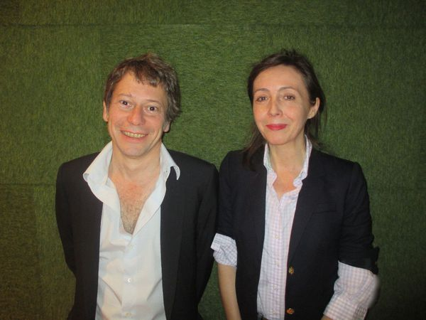 The Blue Room director Mathieu Amalric with Anne-Katrin Titze: