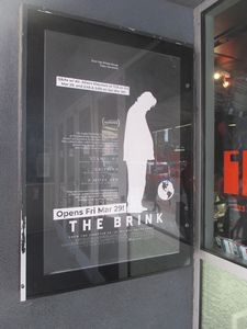 The Brink poster at the IFC Center in New York
