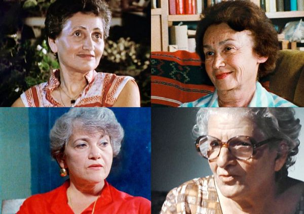 ‪Claude Lanzmann‬'s Les Quatre Soeurs (The Four Sisters) clockwise from top left - Ruth Elias in Le Serment d'Hippocrate (The Hippocratic Oath); Hanna Marton in L'arche De Noé (Noah's Ark); Ada Lichtman in La Puce Joyeuse (The Merry Flea); Paula Biren in Baluty
