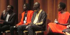 The Good Lie cast Arnold Oceng, Ger Duany, Emmanuel Jal and Kuoth Wiel