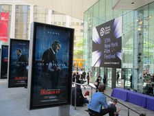 The Irishman posters at Lincoln Center, Alice Tully Hall