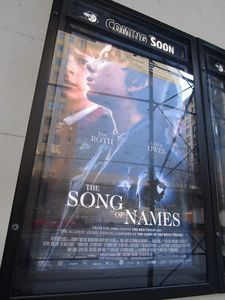 The Song Of Names poster at Angelika Film Center - opens on December 25 in New York